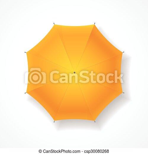 umbrella., vecteur, jaune - csp30080268