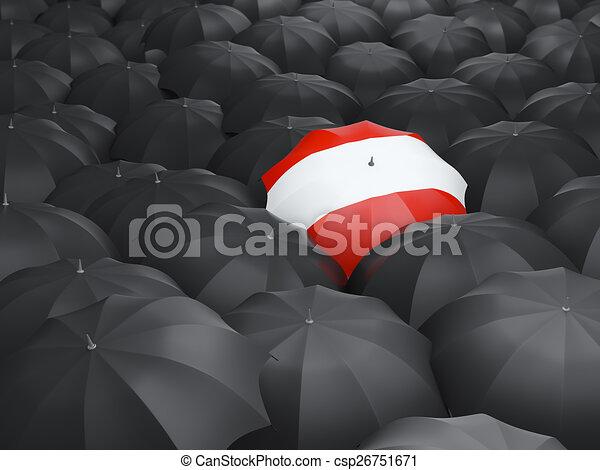 Umbrella with flag of austria - csp26751671