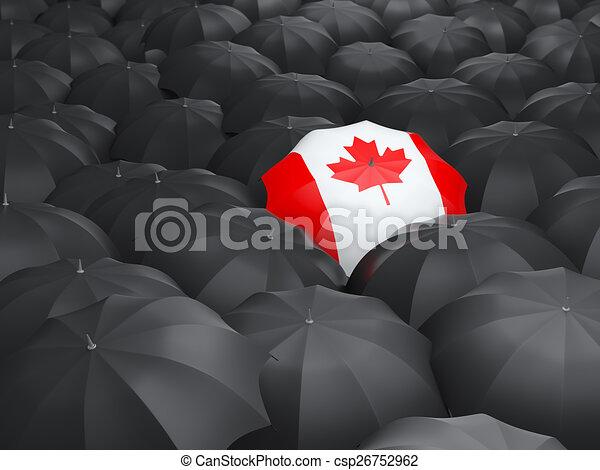 Umbrella with flag of canada - csp26752962