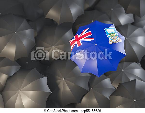 Umbrella with flag of falkland islands - csp55188626