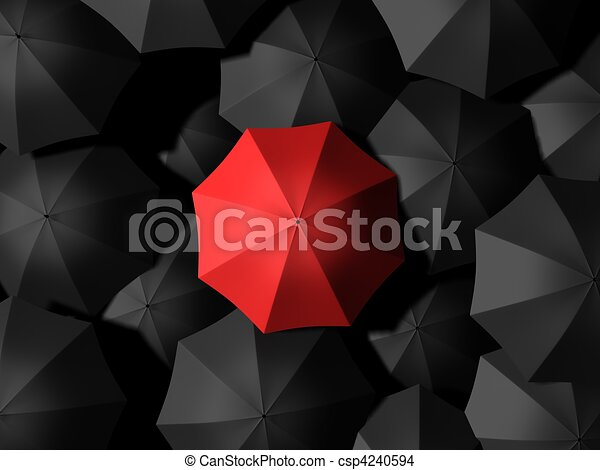umbrellas - csp4240594