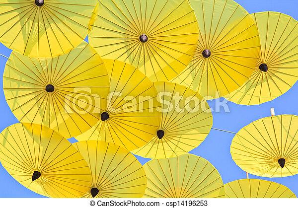 umbrella's, fatto mano, ombrello, asiatico - csp14196253