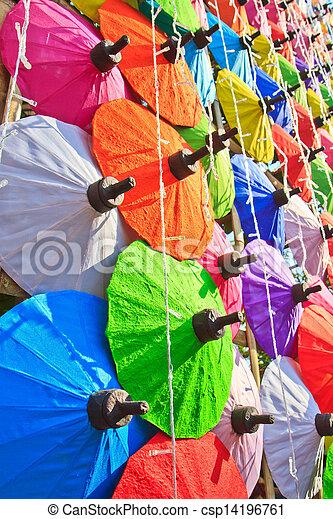 umbrella's, fatto mano, ombrello, asiatico - csp14196761
