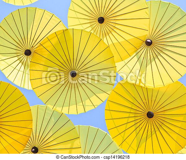 umbrella's, fatto mano, ombrello, asiatico - csp14196218