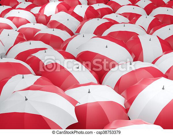 Umbrellas with flag of austria - csp38753379