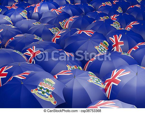 Umbrellas with flag of cayman islands - csp38753368