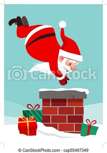 Immagini Natale Umoristiche.Umoristico Snow Disegno Tuffo Camino Style Inscatolato