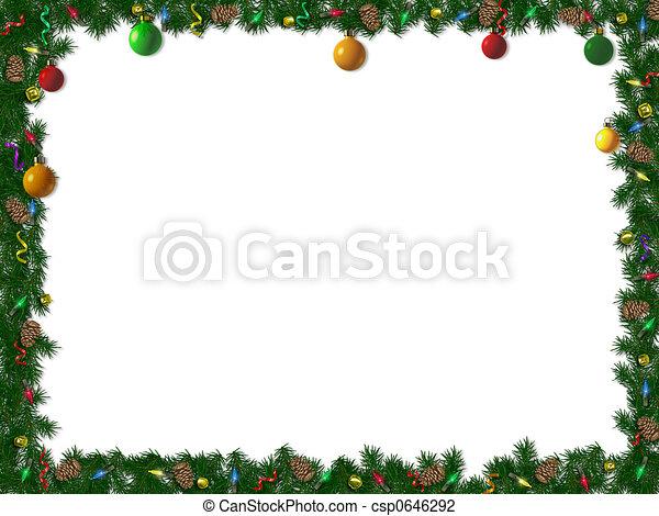 umrandungen, weihnachten - csp0646292