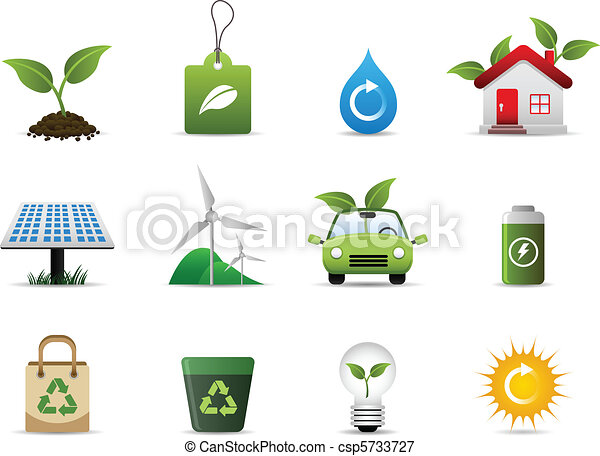 umwelt, grün, ikone - csp5733727