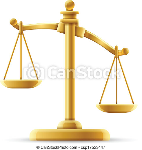 Unbalanced Justice Scale - csp17523447