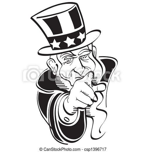 uncle sam 4th of july clip art uncle sam 4th of july or rh canstockphoto com uncle sam clipart uncle sam clipart black and white