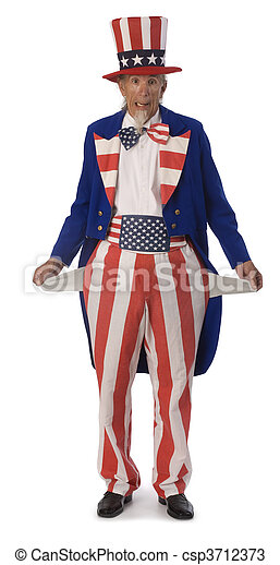 Uncle Sam Broke - csp3712373
