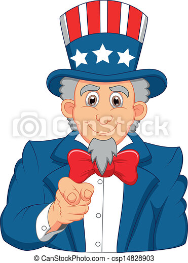 vector illustration of uncle sam cartoon wants you rh canstockphoto com uncle sam clip art images uncle sam clip art black and white