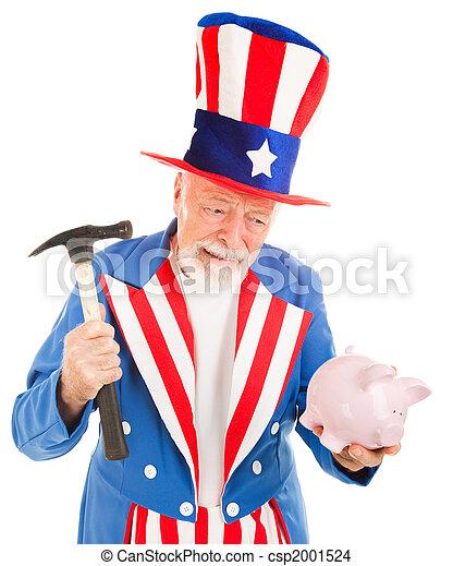 Uncle Sam Desperate for Cash - csp2001524
