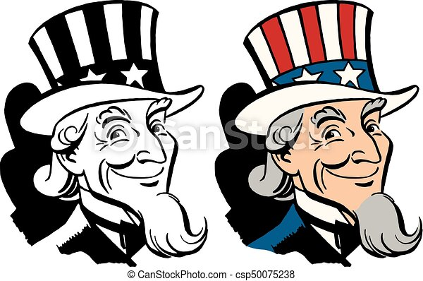 american icon and symbol of freedom uncle sam vectors search clip rh canstockphoto co nz uncle sam clip art free images uncle sam clip art free images