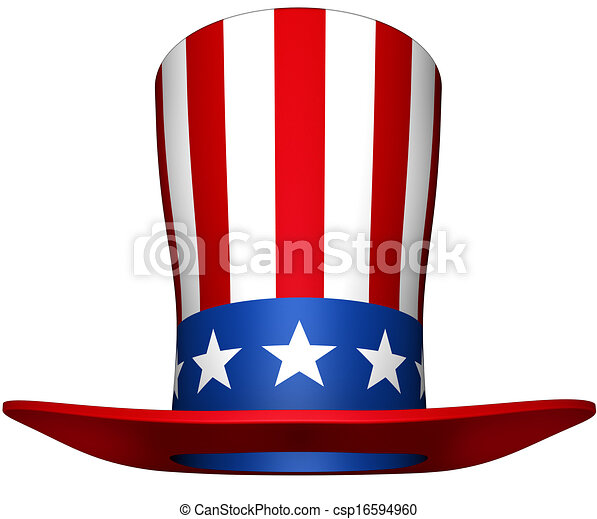 3d rendering of a uncle sam hat stock illustration search clip art rh canstockphoto ca