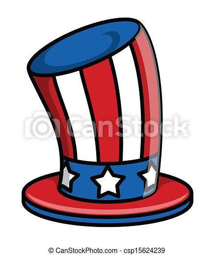 drawing art of retro uncle sam hat vector illustration vectors rh canstockphoto com Seashell Clip Art Bing Images of Uncle Sam