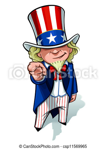 uncle sam i want you clean cut overview cartoon stock rh canstockphoto com Uncle Sam Cartoon Original Uncle Sam