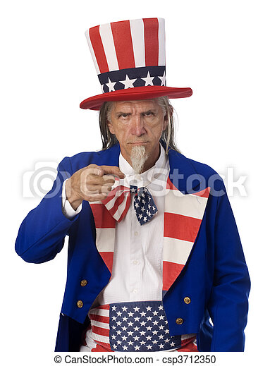 Uncle Sam Want's YOU - csp3712350