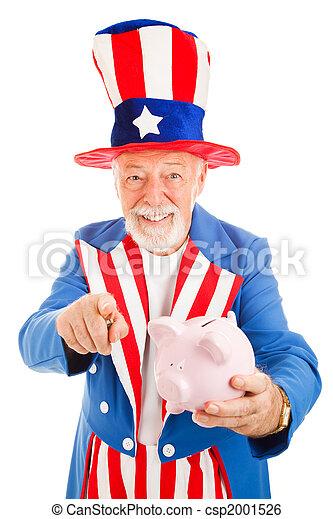 Uncle Sam Wants Your Cash - csp2001526