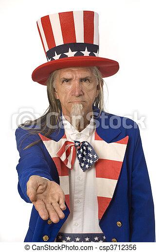 Uncle Sam Want's Your Money - csp3712356