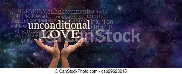 Unconditional Love Word Cloud - csp29623215