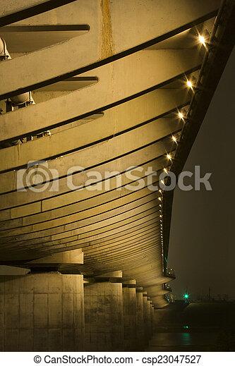 under a bridge - csp23047527