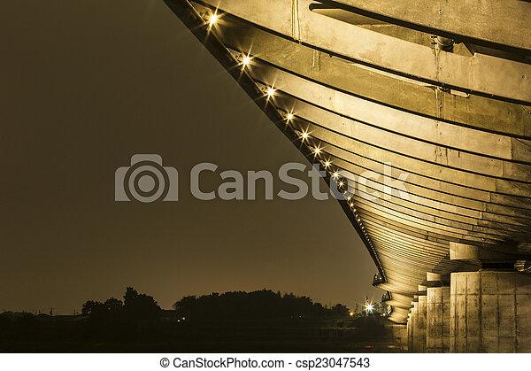 under a bridge - csp23047543
