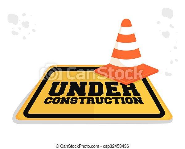 Under construction barrier design - csp32453436