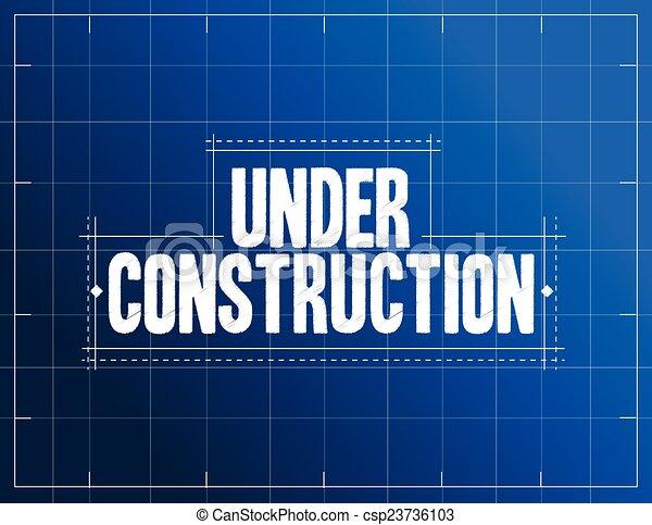 Under construction blueprint illustration design over a blue background under construction blueprint illustration malvernweather Gallery