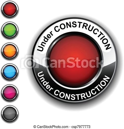 Under construction button. - csp7977773
