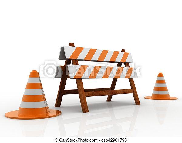 Under construction concept - csp42901795