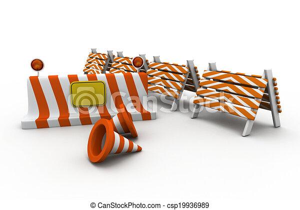 Under construction concept - csp19936989