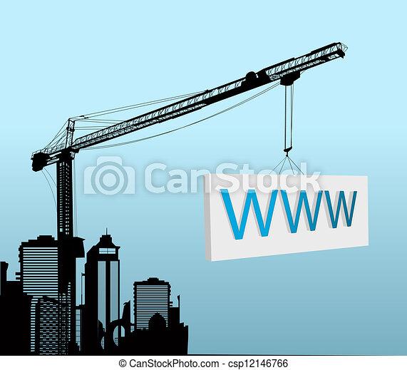 Under construction design - csp12146766