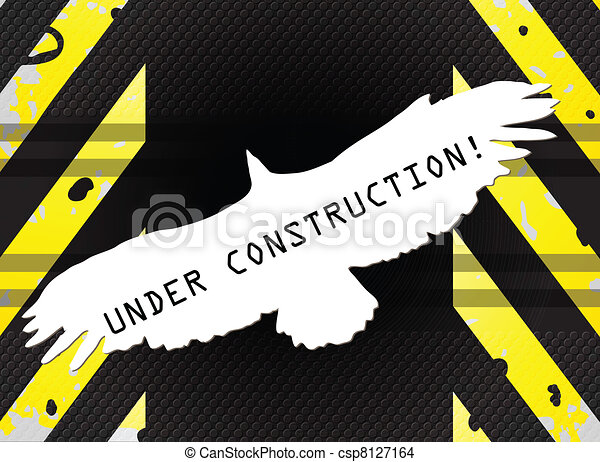 Under construction Eagle abstract  - csp8127164