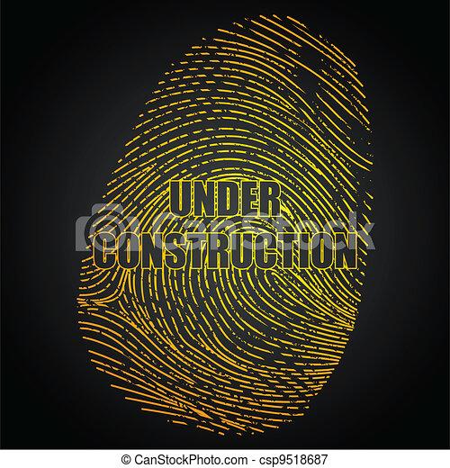 Under Construction Finger Print - csp9518687