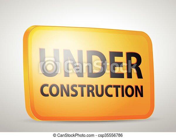 Under construction icon - csp35556786