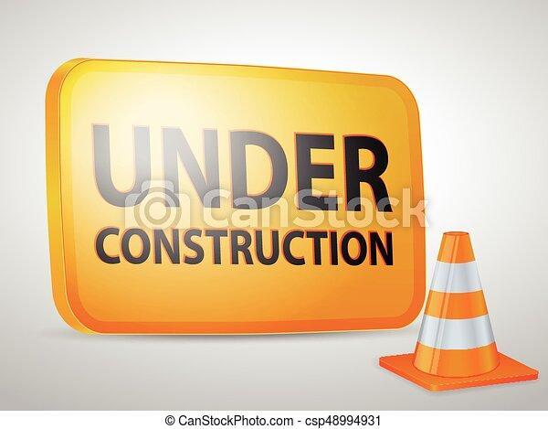 Under construction icon - csp48994931
