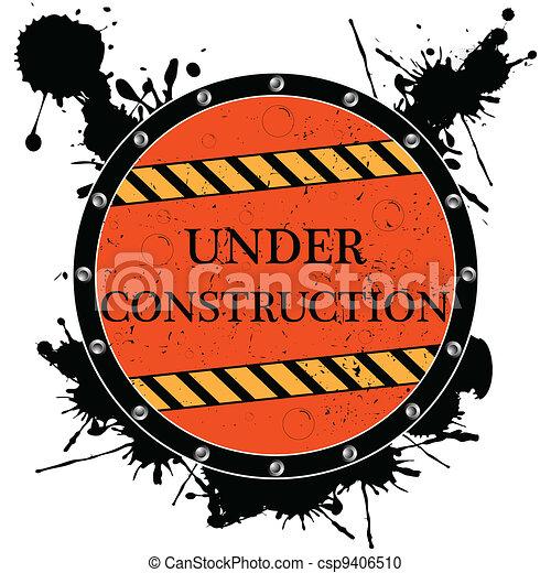 under construction icon - csp9406510