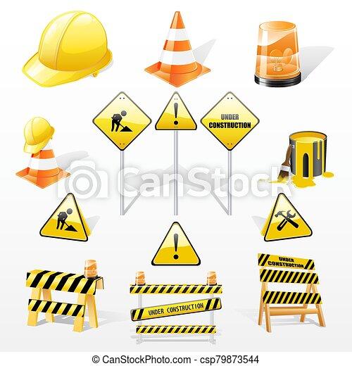 Under construction icons set - csp79873544