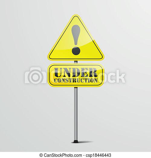 under construction roadsign - csp18446443