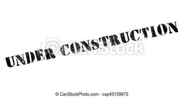 Under construction rubber stamp - csp43139973