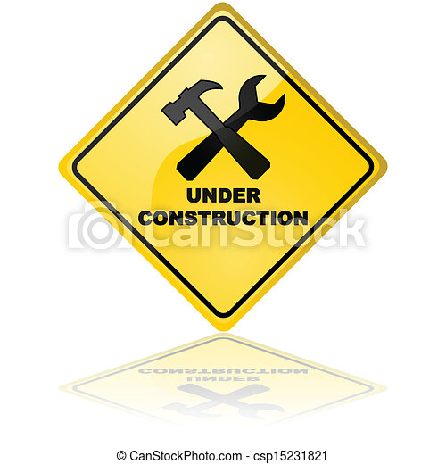 Under construction sign - csp15231821