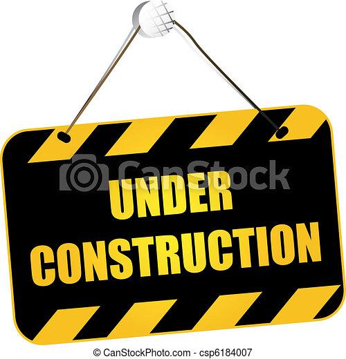 Under construction sign - csp6184007