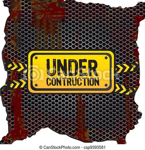 under construction signal   - csp9393581