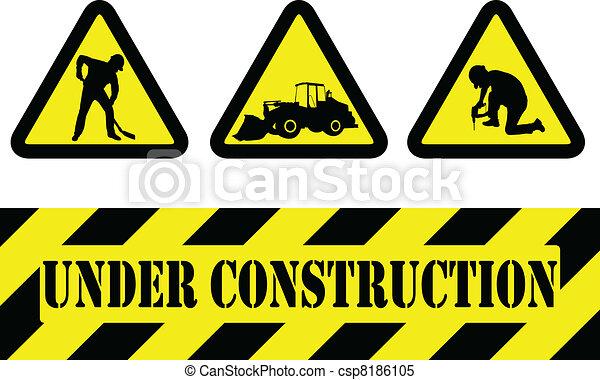 Under Construction Signs Vector