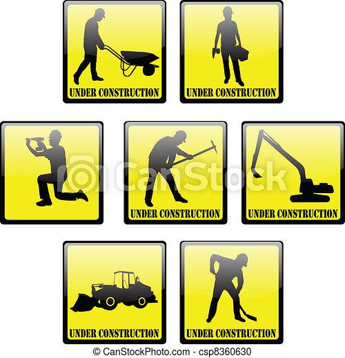 """under construction"" signs - csp8360630"