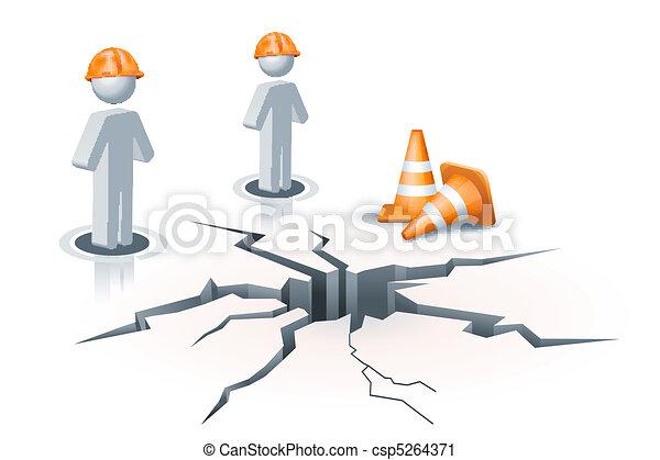 under construction site - csp5264371