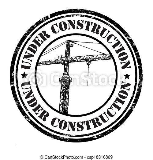 Under construction stamp - csp18316869