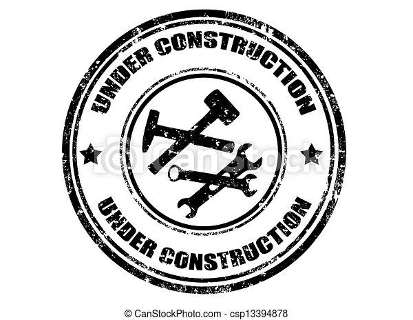 Under construction stamp - csp13394878